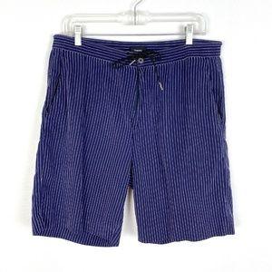 Theory cotton bermuda shorts pinstripe walking